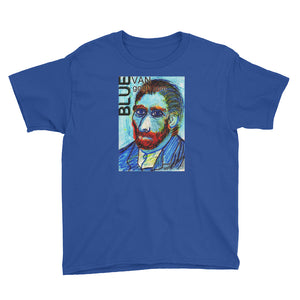 The Blue Van Gogh Logo Youth Short Sleeve T-Shirt / Artist - Margot House