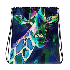 """Giraffe at Night"" Drawstring bag / Artist - Bryan Ameigh"