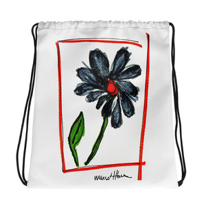 Flower Art Drawstring bag / Artist - Margot House