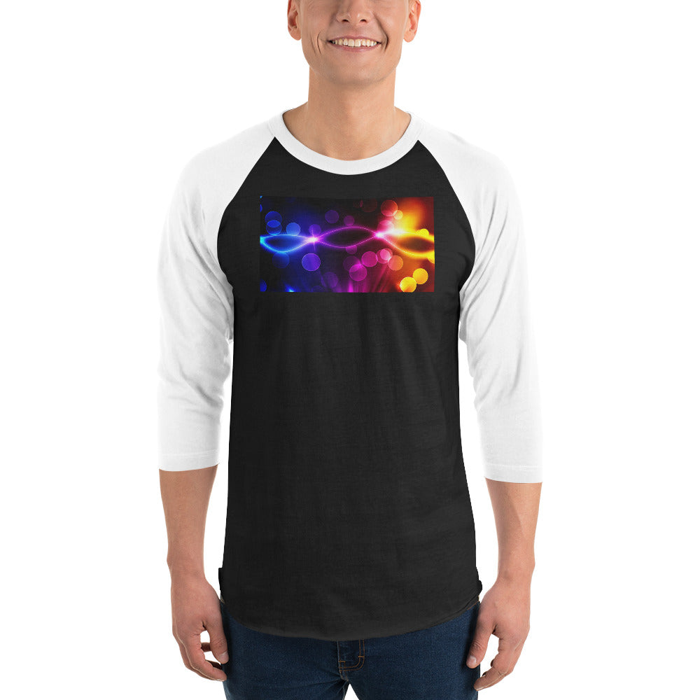 Graphic Edition 3/4 sleeve raglan shirt