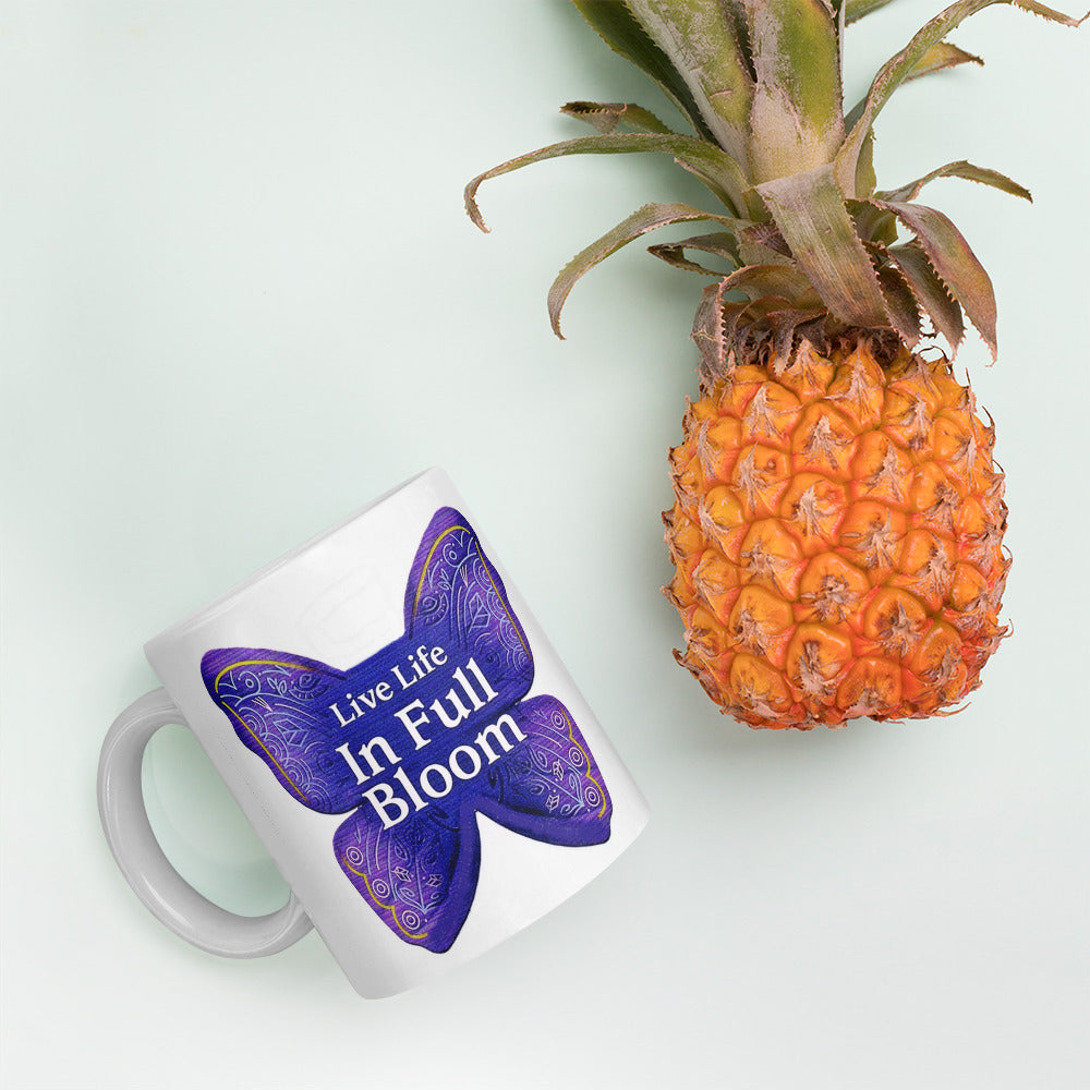 "Coffee Mug / ""Live Life In Full Bloom"" / Created by Bryan Ameigh"