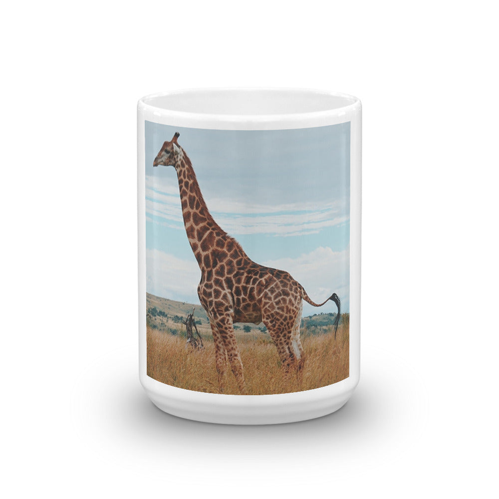 Giraffe in Nature Mug