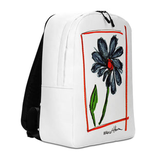Flower Power Minimalist Backpack/ Artist - Margot House