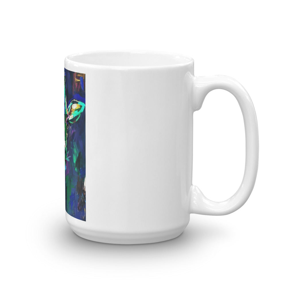 """Giraffe at Night"" Mug"
