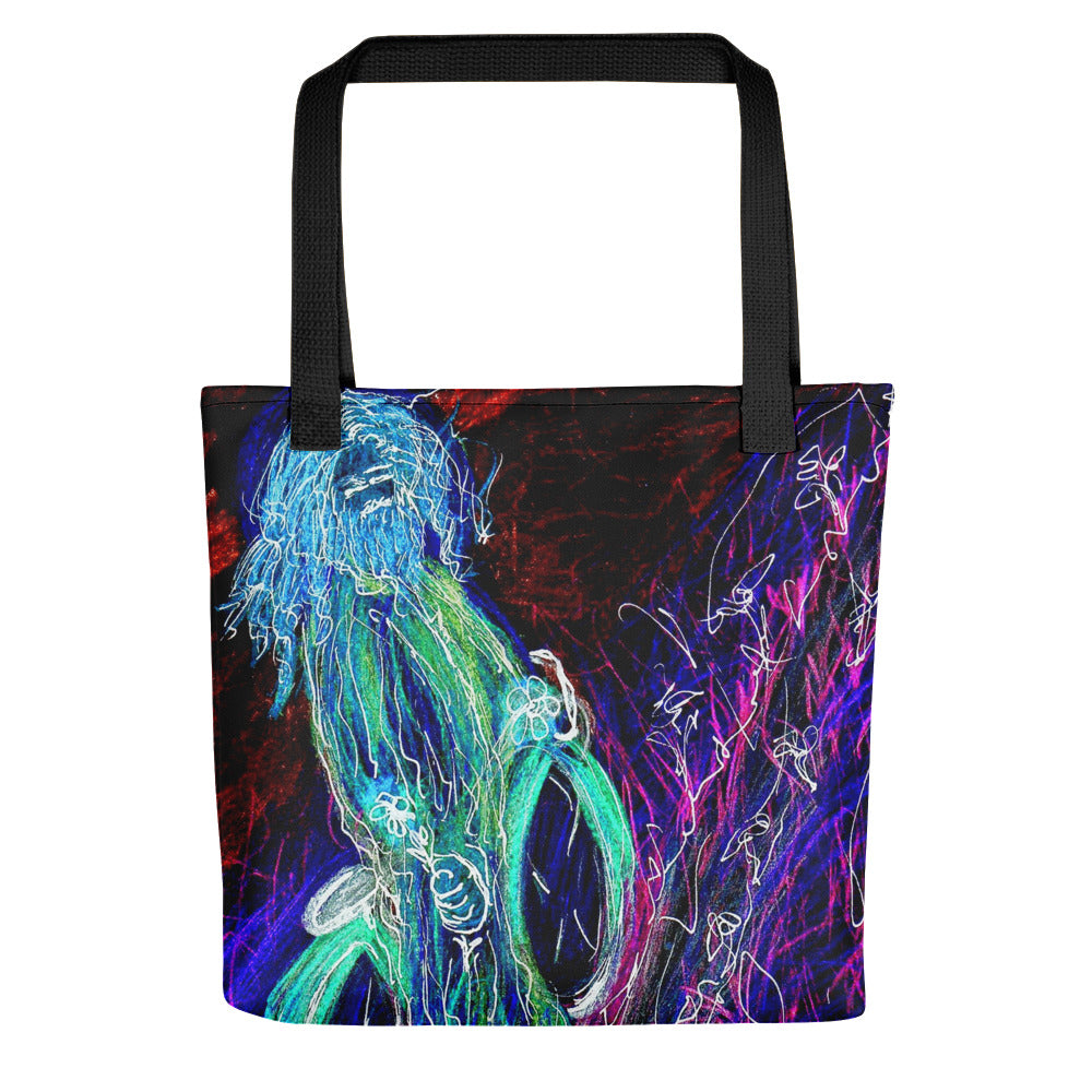 "neon ""Jesus Christ on a Bicycle"" Tote bag / Artist - Margot House & Bryan Ameigh"