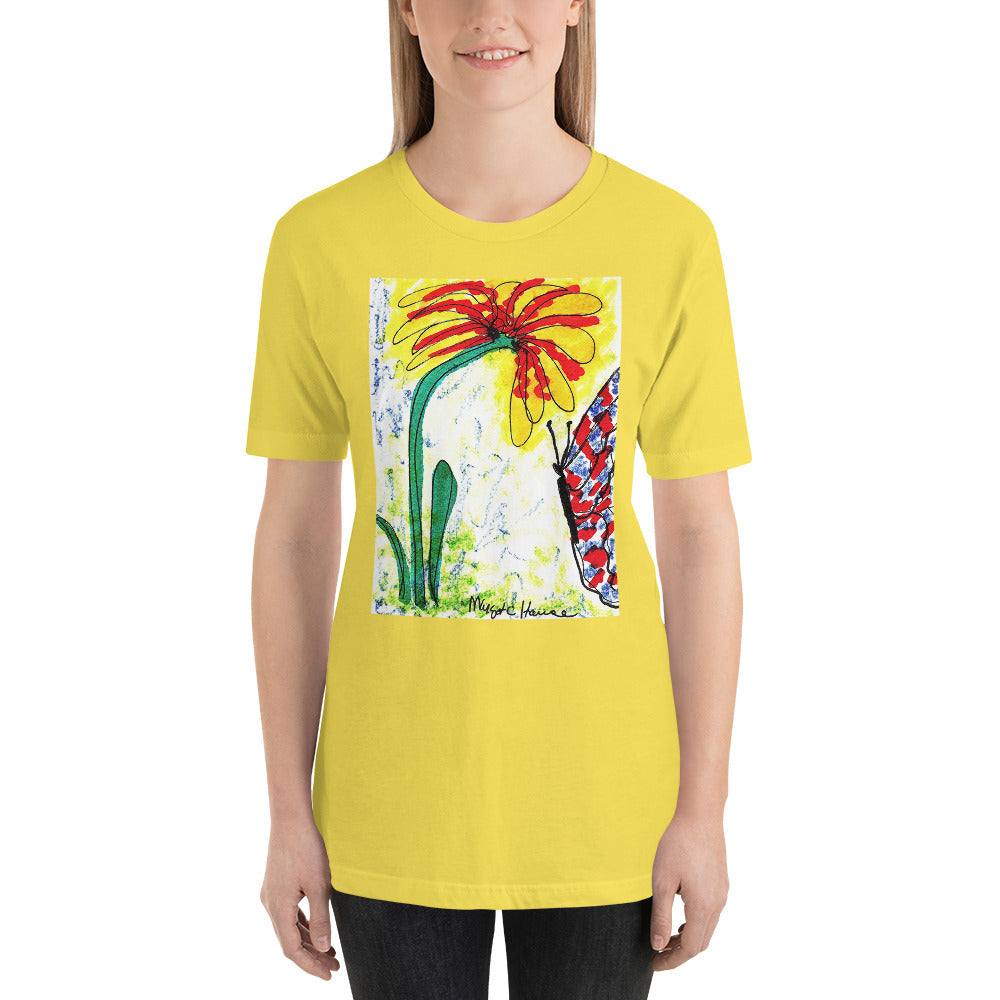 Margot's butterfly Short-Sleeve Unisex T-Shirt / Artist- Margot House