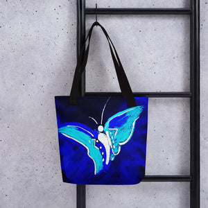 "Tote bag / ""Butterfly at night"""