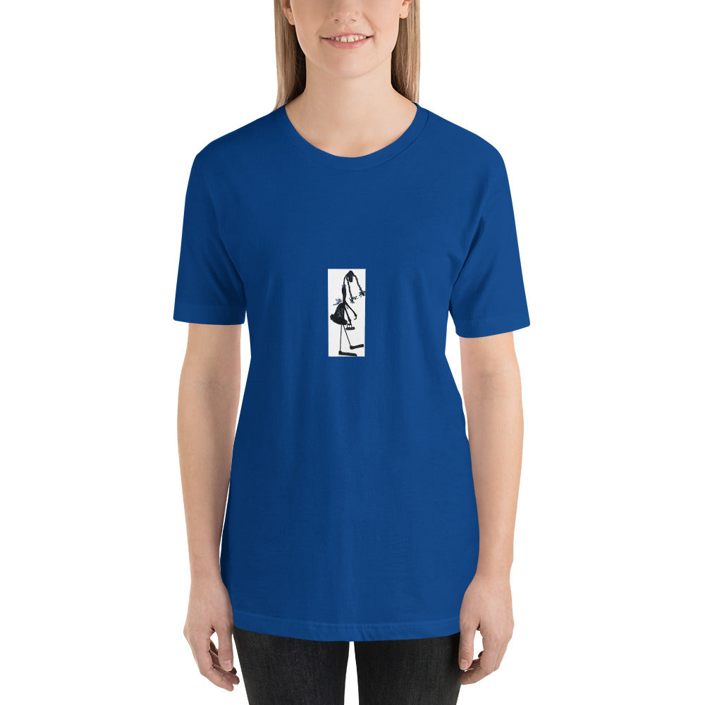 "Short-Sleeve Unisex T-Shirt / ""Little Girl ant with pig tails"" / Artist - Margot House"