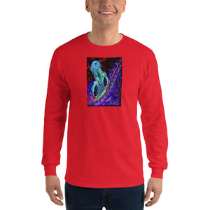 "neon ""Jesus Christ on a Bicycle"" Long Sleeve T-Shirt / Artist - Margot House & Bryan Ameigh"