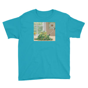 Froggy Family Selfie Youth Short Sleeve T-Shirt / Created by Bryan Ameigh