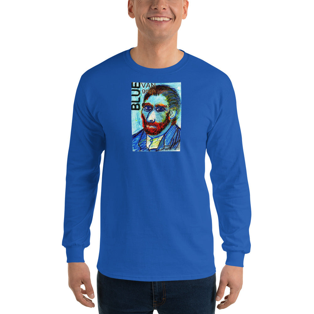 The Blue Van Gogh Logo / Long Sleeve T-Shirt / Artist - Margot House