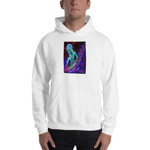 "neon ""Jesus Christ on a Bicycle"" Hooded Sweatshirt / Artist - Margot House"
