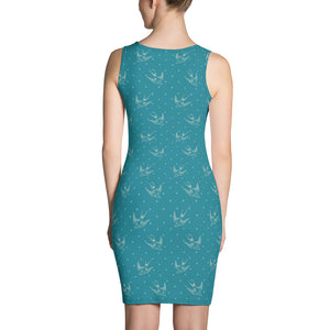 Artist Edition All over printed fitted Dress / Artist - Bryan Ameigh