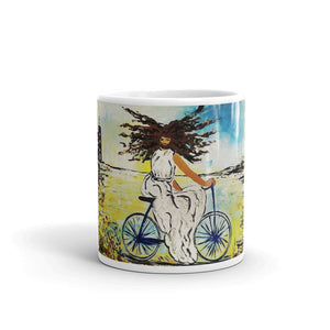 """Jesus Christ on a Bicycle"" Mug / Artist -Margot House - Limited Edition"