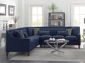 Iconic Home Aberdeen Tufted Left Facing Linen Sectional Sofa - Chic Home Design
