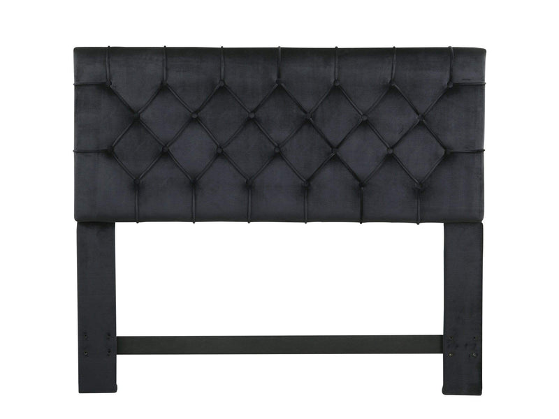 Iconic Home Rivka Headboard Velvet Upholstered Diamond Button Tufted - Chic Home Design