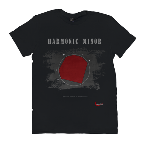 Cool Harmonic Minor Scale T-Shirt