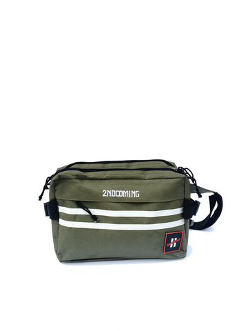 Two Stripe Cross-body Bag (Olive Green)