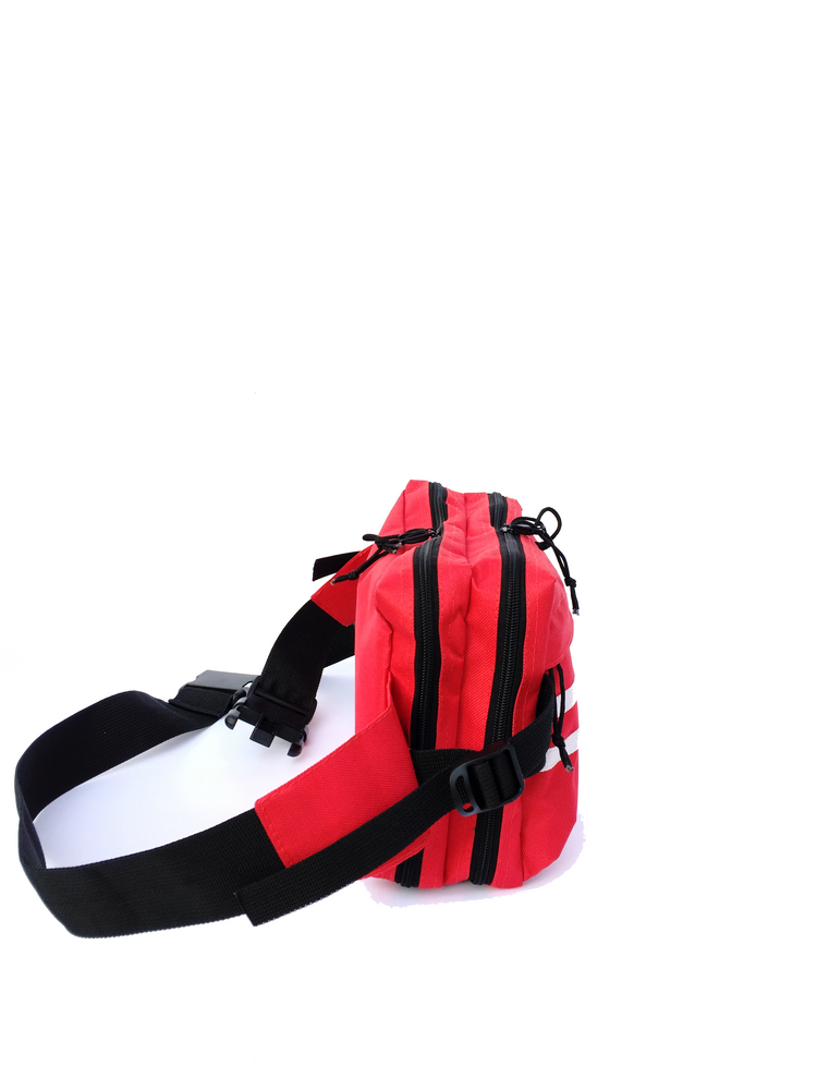 Two Stripe Cross-body Bag (Red)