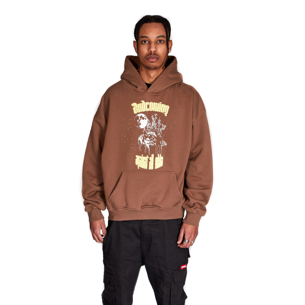 """Against All Odds"" Hoodie (Washed Brown)"