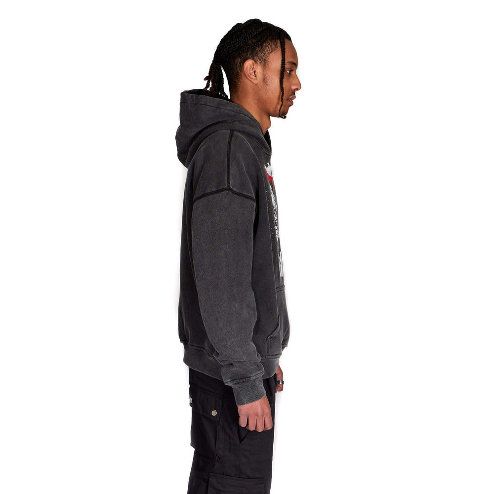 """Against All Odds"" Hoodie (Washed Black)"
