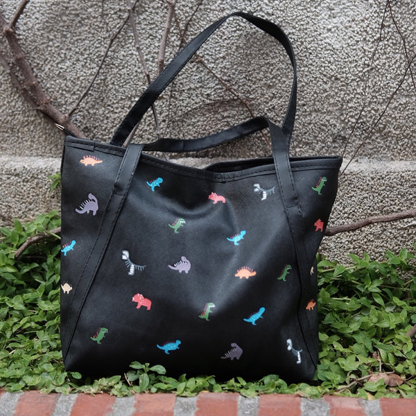 Tiny Dino Zipper Tote