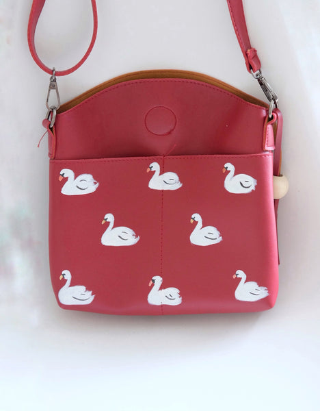 Swan Tassel Ball Bag