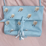 Otter Zipper Flap Clutch Sling Bag