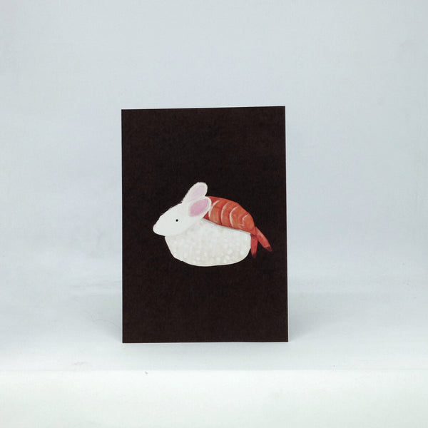 Sushi Rabbit Postcard