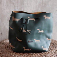 Sausage dog bucket bag
