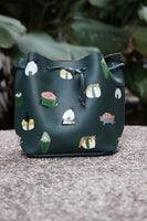 Cat and Sushi Bucket Bag