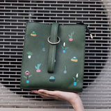 cactus and leaves box bag