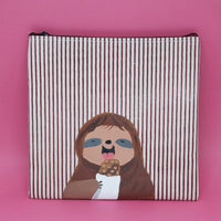Sloth eating pouch