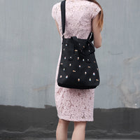 Korean Zipper Tote Bag