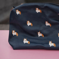 Corgi Zipper Clutch