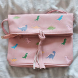 Dino zipper flap bag