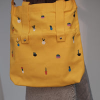 Cactus Zipper Cloth Tote