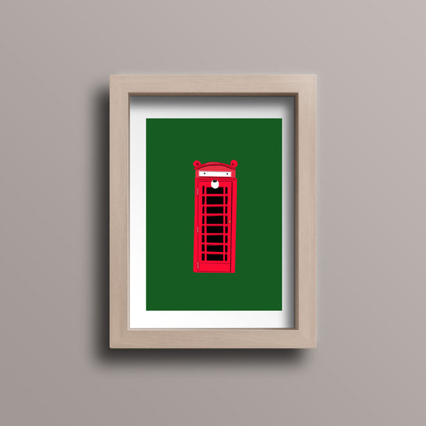 Travel London Telephone Booth Postcard