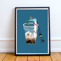 Bubble Tea Divers Print