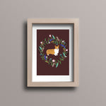 Wreath Corgi Postcard