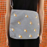 Corgi Zipper Tote Sling Bag