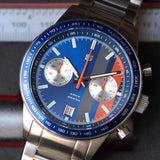 "Straton Daily Driver ""B"" (Blue Dial, Grey & Orange Stripes)"