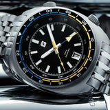 Straton Tourer GMT (Black) - Swiss Mvmt