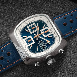 Straton Speciale - Swiss Valjoux 7750 (Blue, Polished Case)
