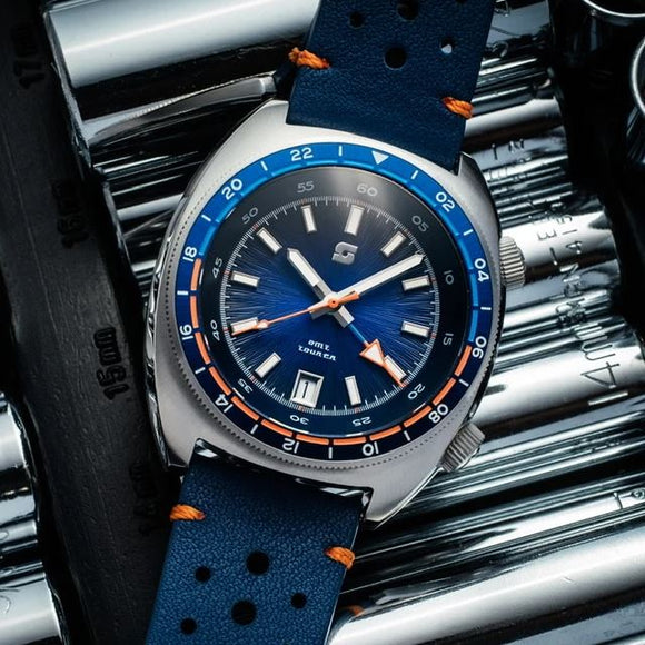 Straton Tourer GMT (Blue) - Swiss Mvmt
