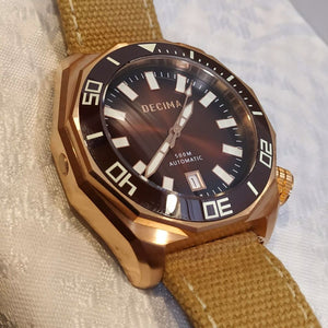 Decima Scylla Limited Edition (Brown) - 500m Swiss Movement CuSn8 Bronze