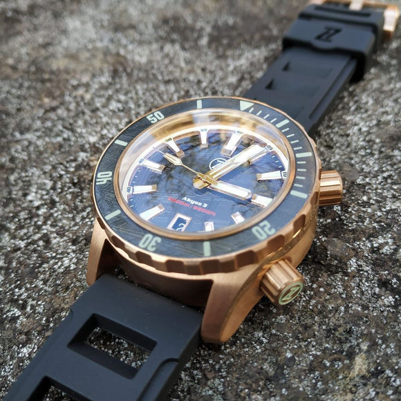 Zelos Abyss 3 3000M Bronze Meteorite (3km, Swiss Mvmt, Limited Edition)