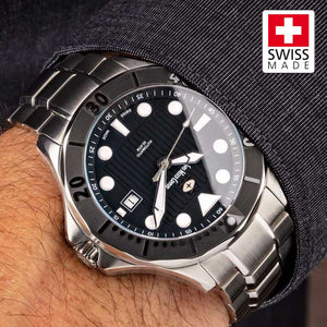 SWC Diver - Black (Swiss Made Limited Edition) 20x Layers of Super-Luminova
