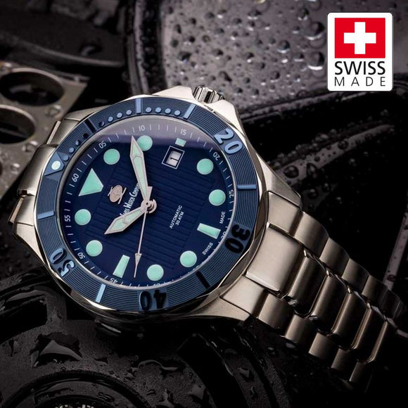 SWC Diver - Blue (Swiss Made Limited Edition) 20x Layers of Super-Luminova