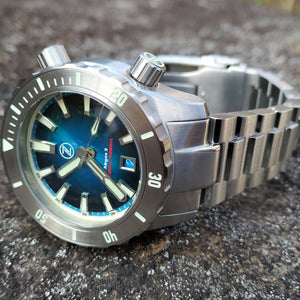 Zelos Abyss 3 3000M Steel Teal (3km, Swiss Mvmt, Limited Edition)